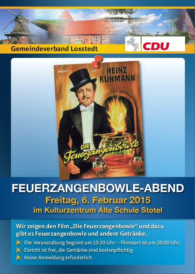 Feuerzangenbowle Plakat